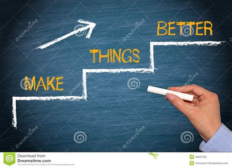 how to make things better makes thing better stock image image of businessperson