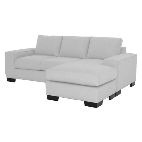 Reversible Chaise Sofa Small Skirted Sofa With Rolled Arms Sofa With Reversible Chaise Lounge