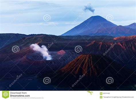 Light On Indonesia morning light on bromo volcano stock photo image 59797402