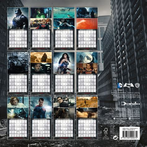 Calendar Batman Batman Vs Superman Calendars 2018 On Europosters