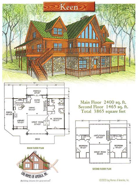keen home plan by log homes of america