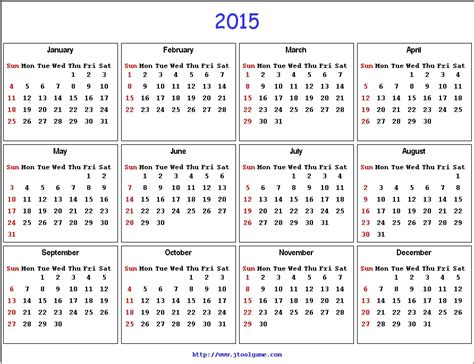 Calendar For Year 2015 United States 2015 United States Calendar Auto Design Tech