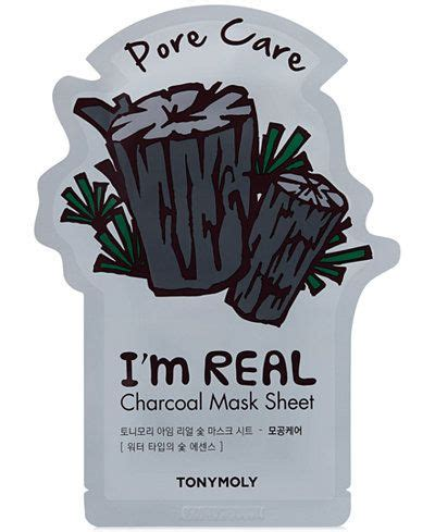 Tonymoly I M Real Mask Sheet 100 Ori By Tony Moly Kr tonymoly i m real charcoal sheet mask pore care reviews