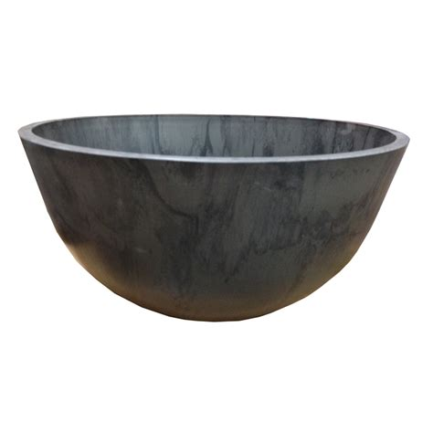 eden 41cm charcoal green earth low bowl plastic pot
