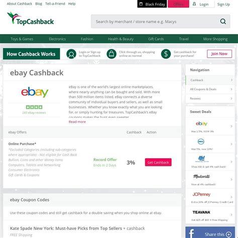 ebay ozbargain 3 cashback was 0 9 ebay us via top cashback ozbargain