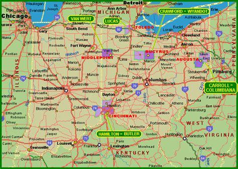 Indiana Ohio Map by Indiana Ohio Map