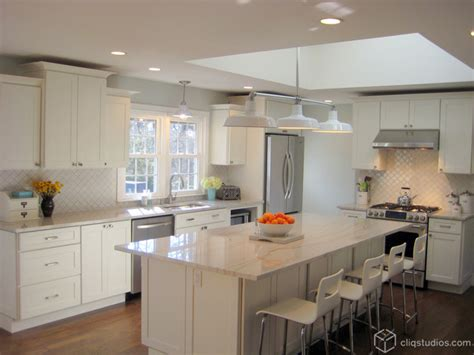 Houzz White Kitchen Cabinets White Kitchen Cabinets Contemporary Kitchen New York