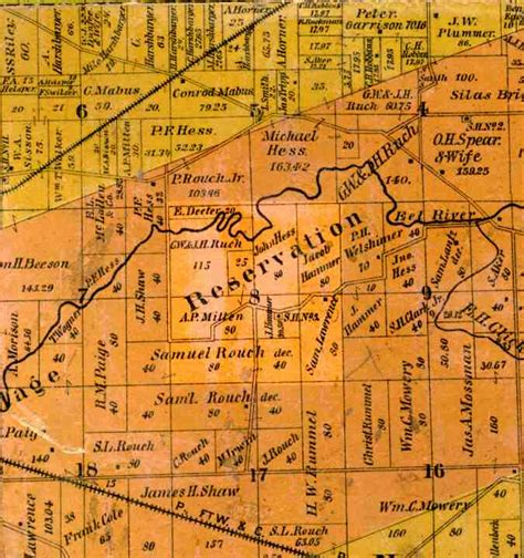 Union County Section 8 by Whitley County Indiana 1889 Plat Map Index Images Quot D