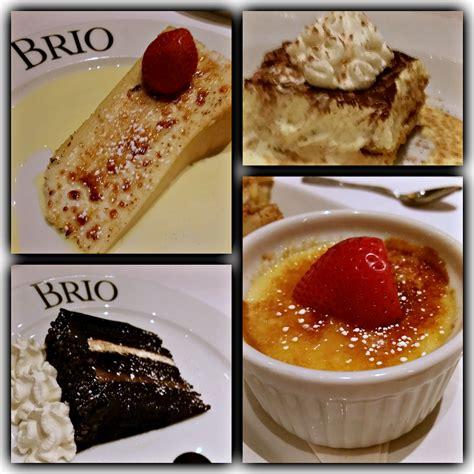 brio dessert menu authentic tuscan inspired food at brio