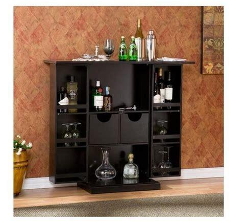 Fold Away Bar Cabinet Fold Away Bar Cabinet Black Modern Liquor Wine Glass Storage Kitchen Home Pub Decor And