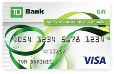 Visa Gift Card Online Register - td bank com gift card info lamoureph blog