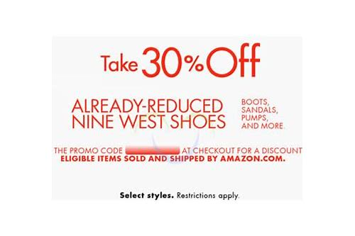 coupon code for nine west shoes