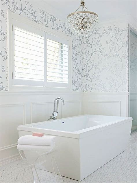 wallpapered bathrooms ideas best 25 bathroom wallpaper ideas on pinterest wall