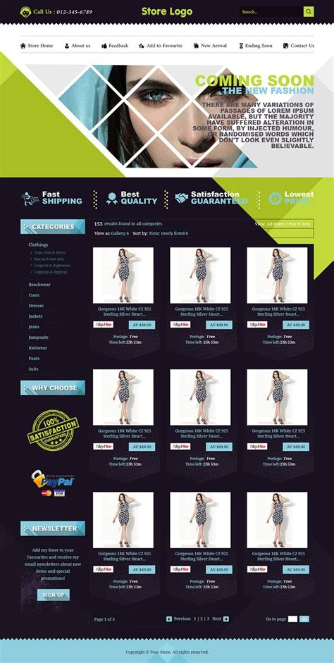 9 Best Images About Clothing Ebay Listing Templates In Uk On Pinterest Shops Auction And Html For Ebay Clothing Template