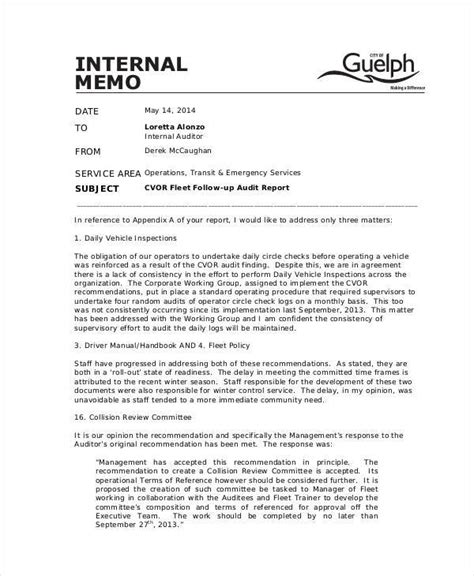 sle internal memo 6 memo sle for employees