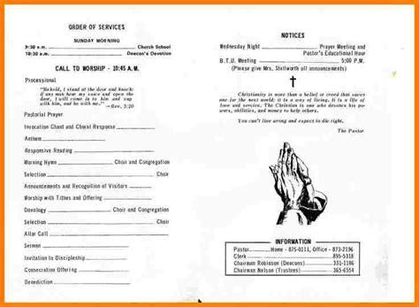 7 church program template free letter format for