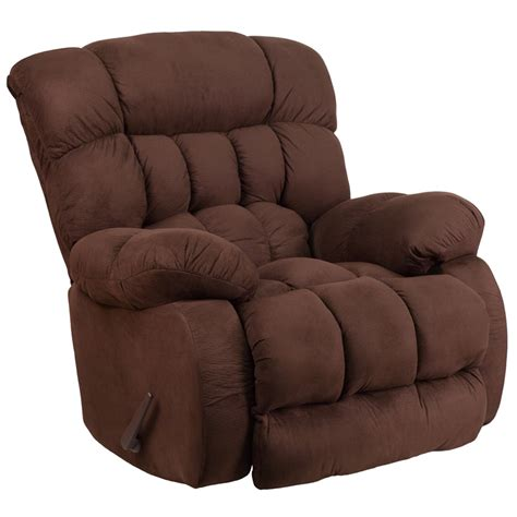 microfiber couch with recliner flash furniture contemporary softsuede fudge microfiber