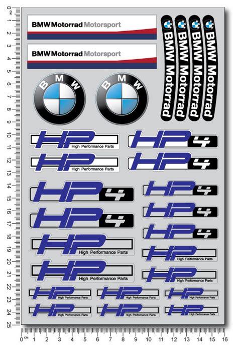 Sticker Bmw Hp4 by Bmw Hp4 Motorrad Motorcycle Decal Set Sheet 28 High