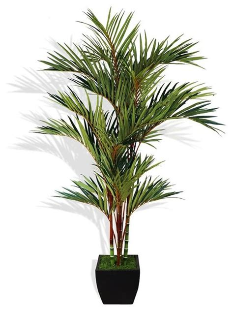8 Ft. H Lipstick Red Palm Tree in Container   Tropical   Artificial Plants And Trees   by ShopLadder