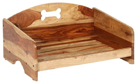 Wooden Quot Rustic Quot Pet Bed Frame Medium Rustic Dog Beds