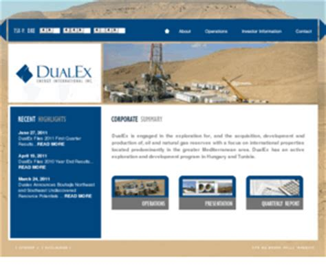 dualexen.com: dualex energy international inc.