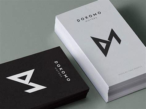 kartu nama desain hitam putih 5 desain kartu nama minimalis untuk anda printerous