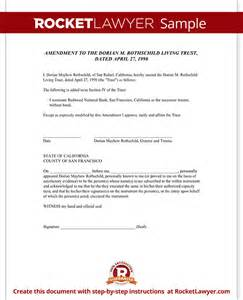 Living Certification Letter Living Trust Amendment Form Rocket Lawyer