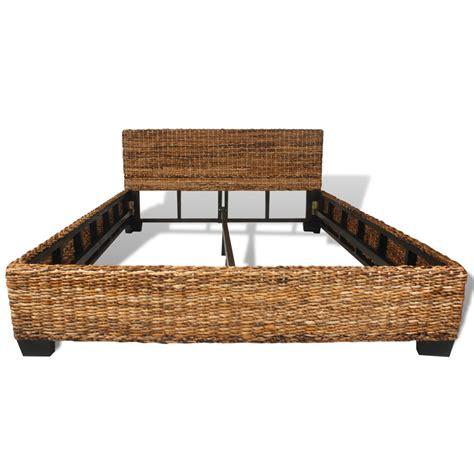 rattan futon vidaxl co uk handwoven abaca rattan bed 140 x 200 cm