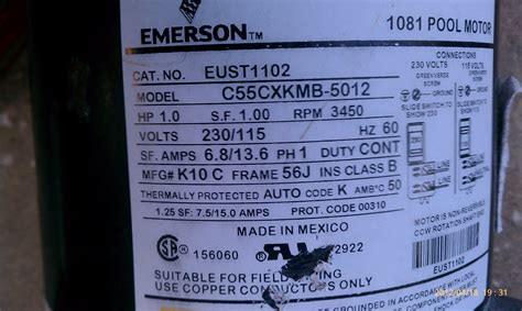 how do pool motors last i an emerson 1081 pool motor it has only been intalled