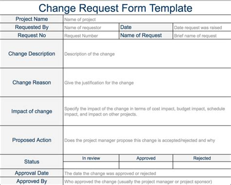 change request form template change request template doliquid