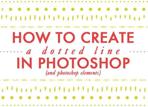 dotted line pattern photoshop photoshop how to create a and photoshop elements on pinterest