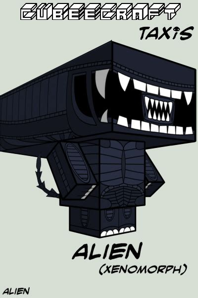 Aliens Papercraft - cubee by taxisflashdude on deviantart