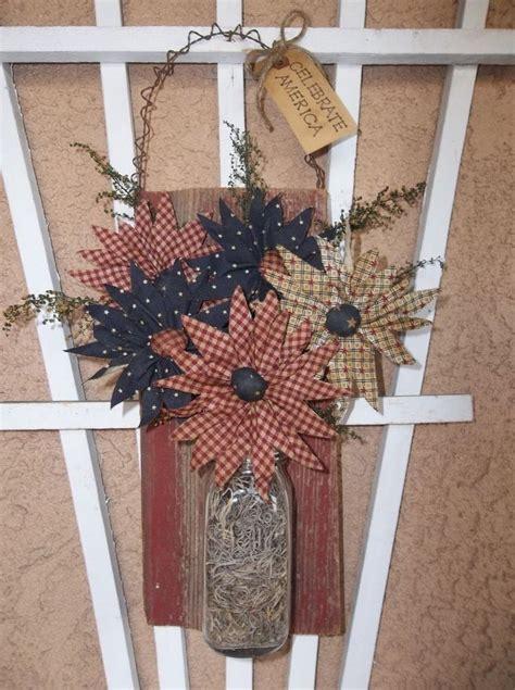 Handmade Primitive Crafts - primitive americana decoration handmade daisies on