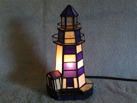 Stained Glass Lighthouse L by Nightlight Lighthouse Stained Glass