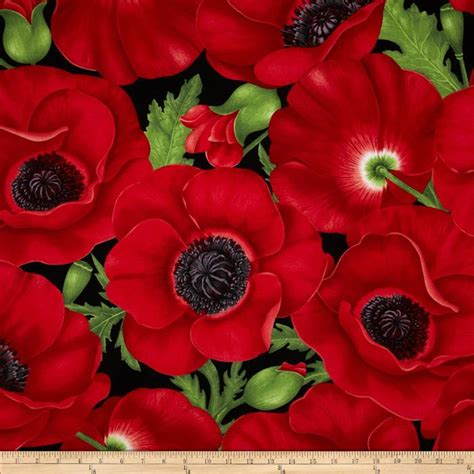 pattern for fabric poppy timeless treasures poppies extra large poppy red