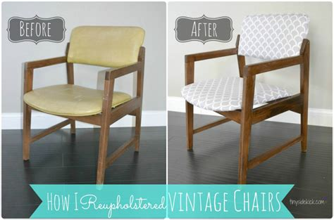 how to recover armchair reupholstering vintage dining chairs tiny sidekick