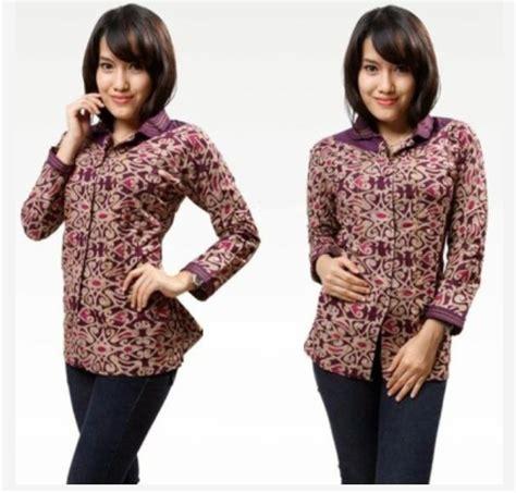 Batik Wanita S Batik model baju batik wanita lengan panjang untuk kerja