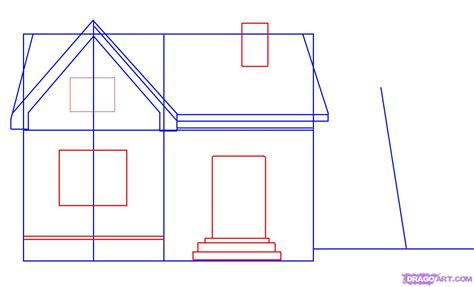 how to draw a house plan step by step step 3 how to draw a house