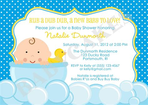 Duck Baby Shower Invitations by Rubber Ducky Baby Shower Invitation Diy Print Your Own