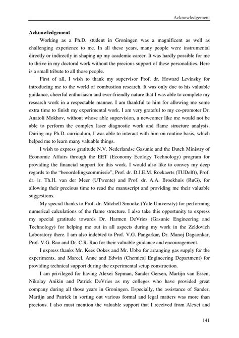 thesis acknowledgement acknowledgement for dissertation