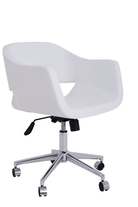 white desk chairs white armless desk chair