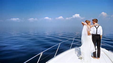 Wedding Yacht by A Wedding On A Yacht On The Island Of Santorini