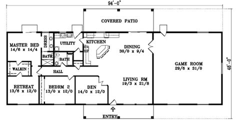 single story house plans without garage sante fe style house plans 2048 square foot home 1