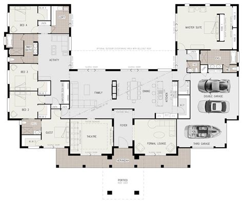 Us Homes Floor Plans by Floor Plan Friday U Shaped 5 Bedroom Family Home