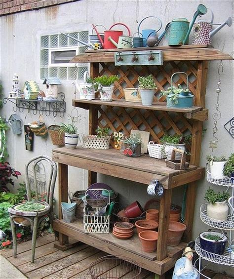 Garden Potting Bench Ideas 17 Best Ideas About Pallet Potting Bench On Potting Station Potting Tables And