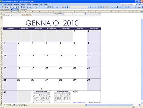 Calendario Xls Excel Calendar Template