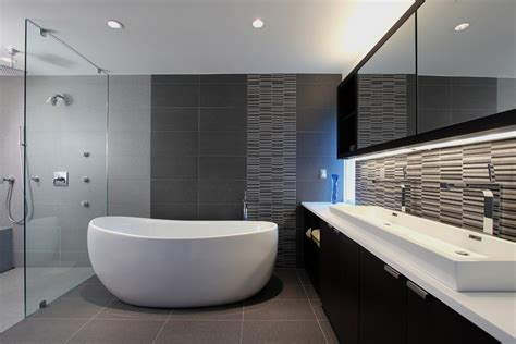 Trough bathroom sinks bathroom contemporary with beige tile tub surround beeyoutifullife com