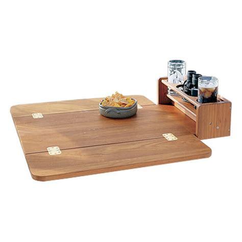 folding boat table whitecap teak cockpit table with folding leaves 61392s u