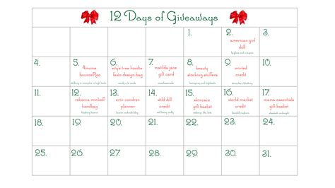 Calendar Giveaways - blushing basics 12 days of christmas giveaway