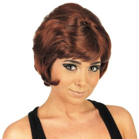 professional wig for women over 70 beehive wig 1960s fancy dress mod girl 60 s costume ladies